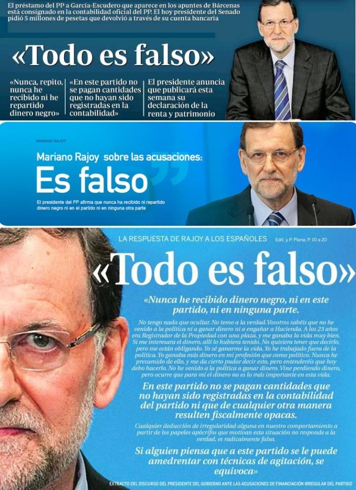 'ABC', PP, 'La Razón'.