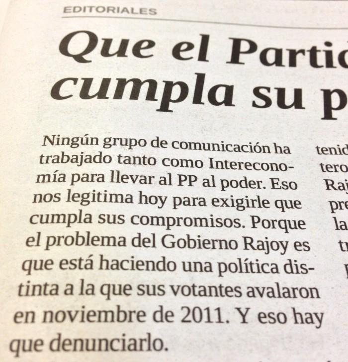 'La Gaceta', domingo 10 de febrero de 2013.