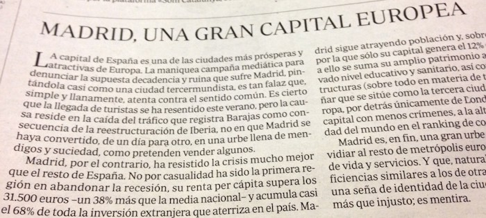 'Madrid, gran capital europea'. ABC.